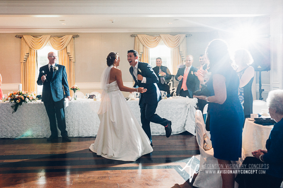 Buffalo Wedding Photography Orchard Park Country Club 055 - Reception Details Bride Groom Entrance.jpg
