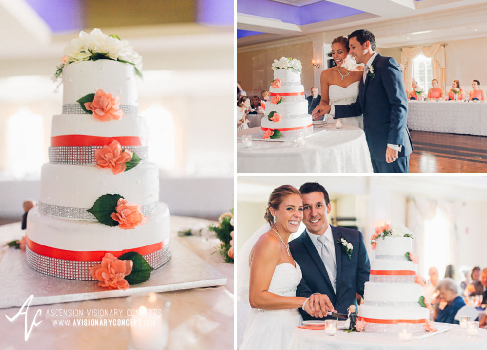 Buffalo Wedding Photography Orchard Park Country Club 056 - Reception Cutting the Cake.jpg