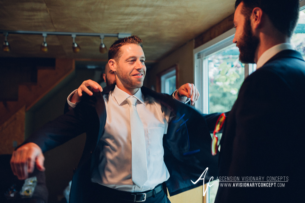 Buffalo Wedding Photography Spring Lake Winery 025 - Groom Getting Ready.jpg
