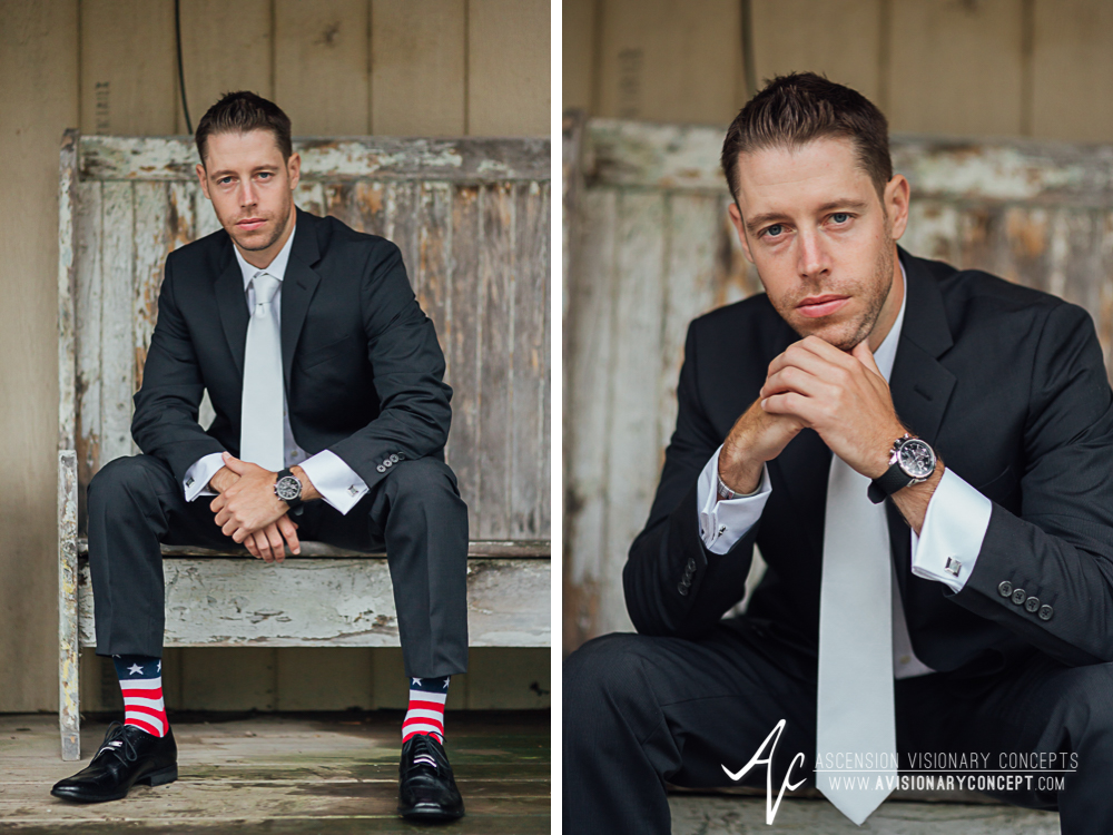Buffalo Wedding Photography Spring Lake Winery 031 - Handsome Groom Portraits Rainy Wedding Day.jpg