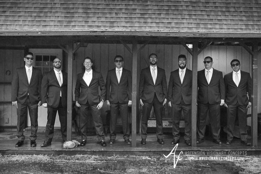 Buffalo Wedding Photography Spring Lake Winery 030 - Groom Groomsmen Cool Sunglasses Rainy Wedding Day.jpg