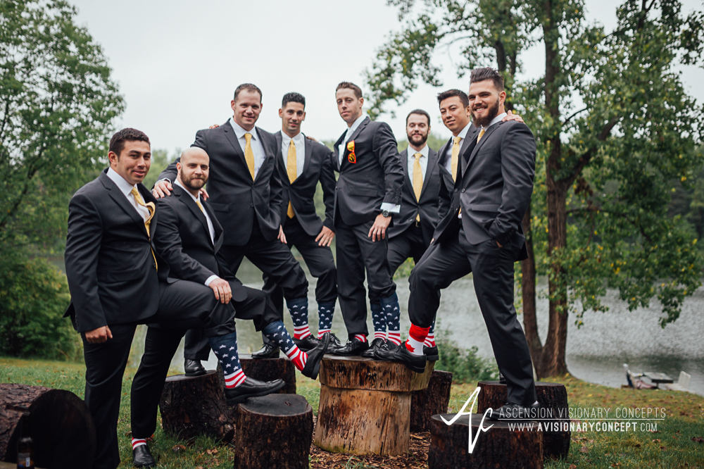 Buffalo Wedding Photography Spring Lake Winery 035 - Groom Groomsmen USA Canada Socks.jpg