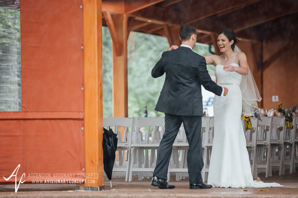 Buffalo Wedding Photography Spring Lake Winery 039 - Bride Groom First Looks Rainy Wedding Day.jpg