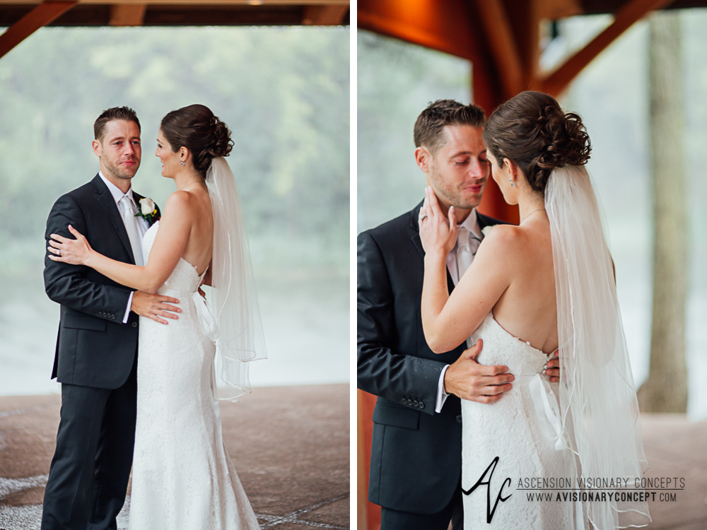 Buffalo Wedding Photography Spring Lake Winery 041 - Bride Groom First Looks Rainy Wedding Day.jpg