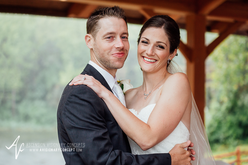 Buffalo Wedding Photography Spring Lake Winery 042 - Bride Groom First Looks Rainy Wedding Day.jpg