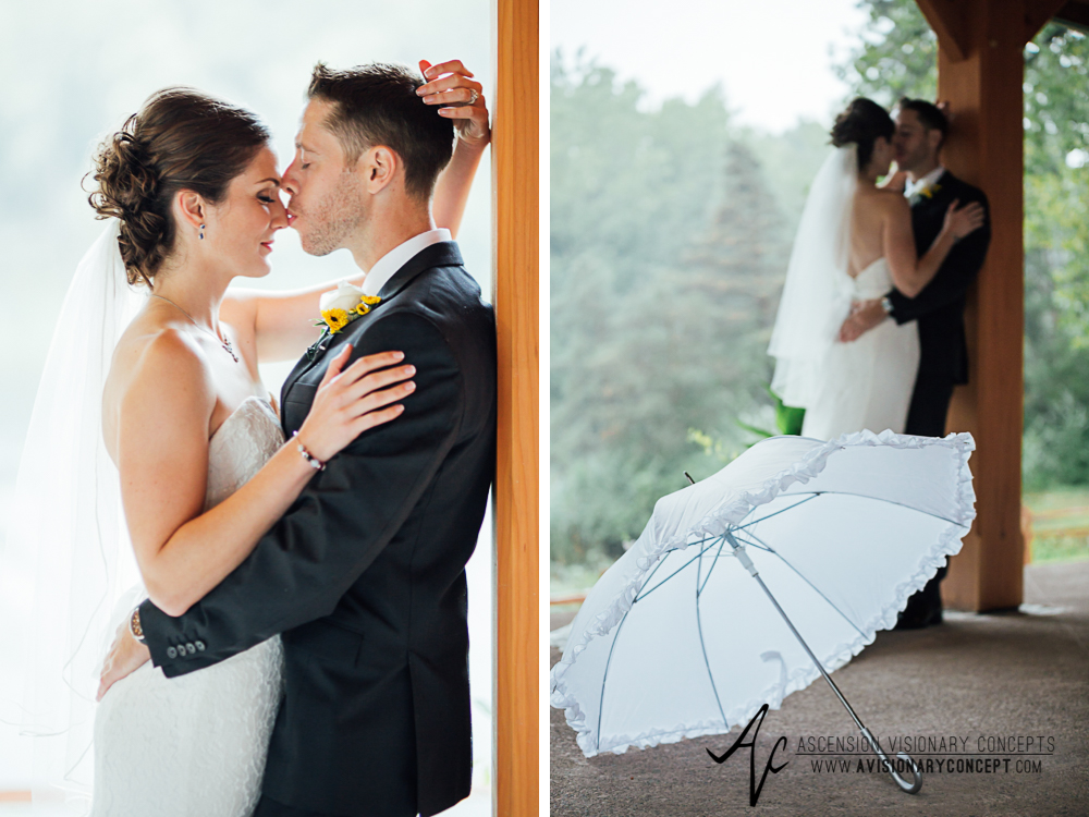 Buffalo Wedding Photography Spring Lake Winery 046 - Bride Groom First Portraits Rainy Wedding Day.jpg