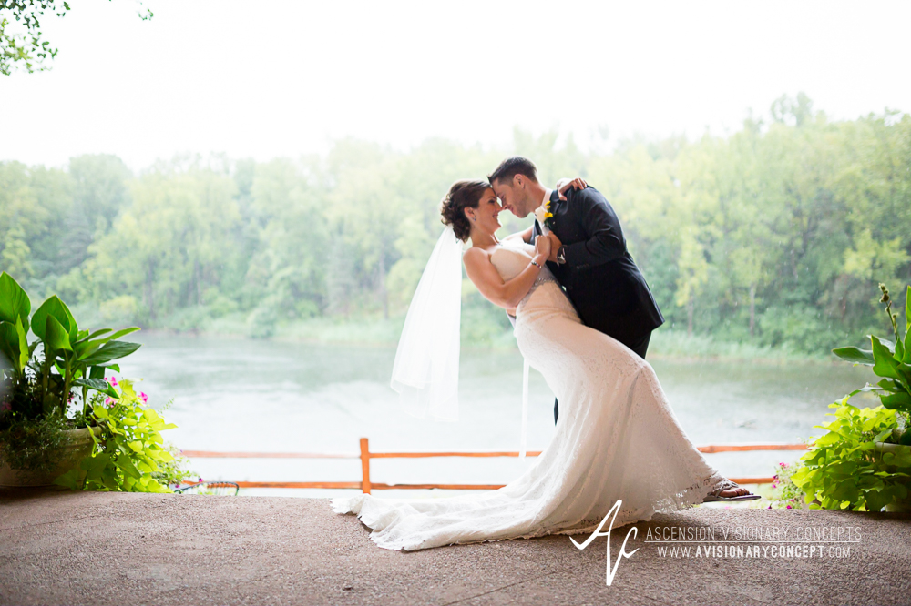 Buffalo Wedding Photography Spring Lake Winery 050 - Bride Groom First Portraits Rainy Wedding Day.jpg