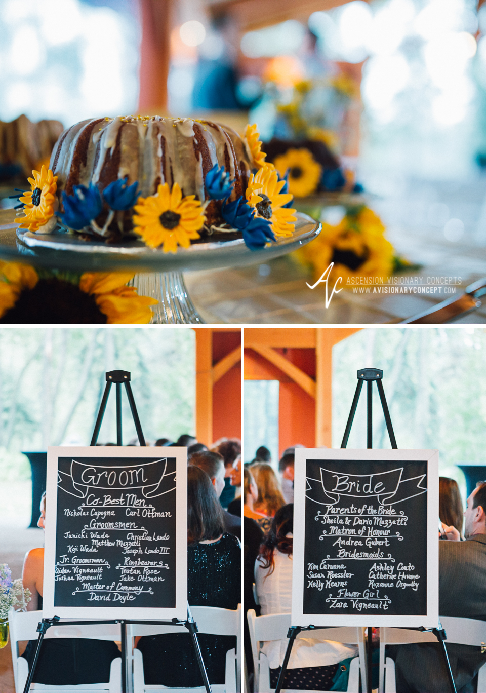 Buffalo Wedding Photography Spring Lake Winery 058 - Wedding Details Cake Chalkboard Program.jpg