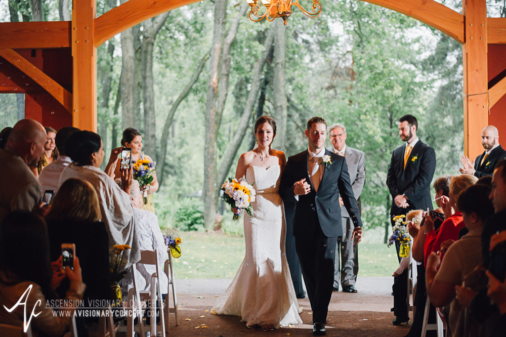 Buffalo Wedding Photography Spring Lake Winery 067 - Wedding Ceremony Recessional.jpg
