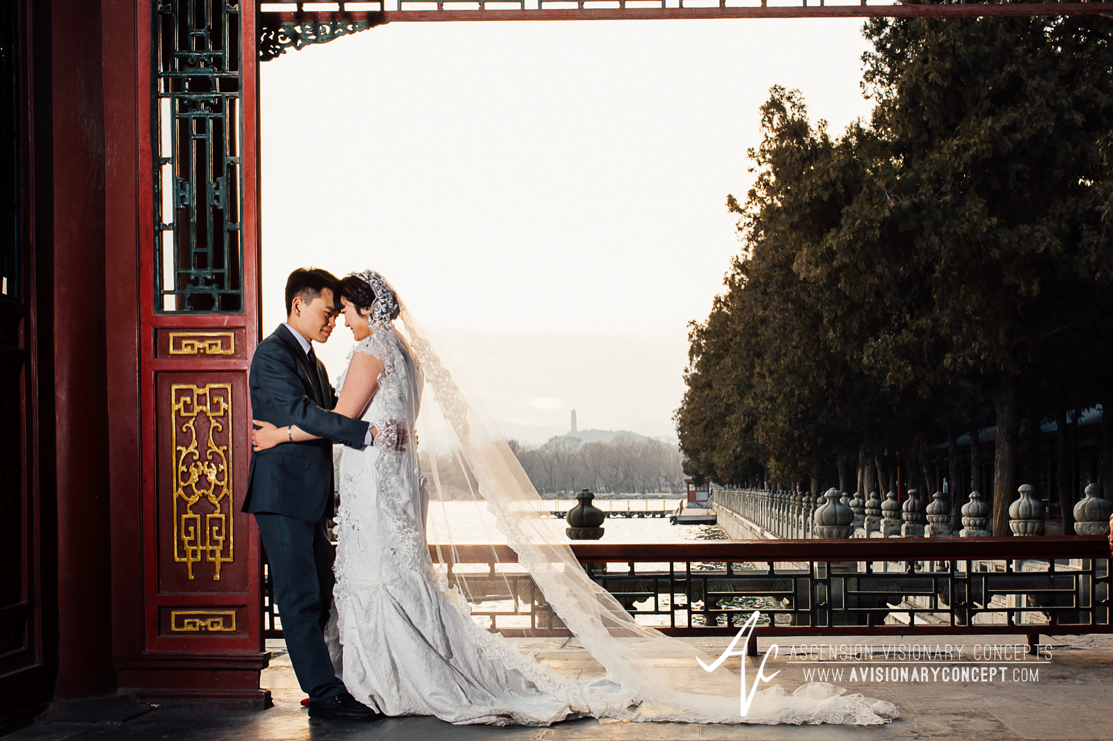 International Wedding Photography - Beijing China Summer Palace Destination Wedding Photography Pre-Wedding Photography Bride & Groom