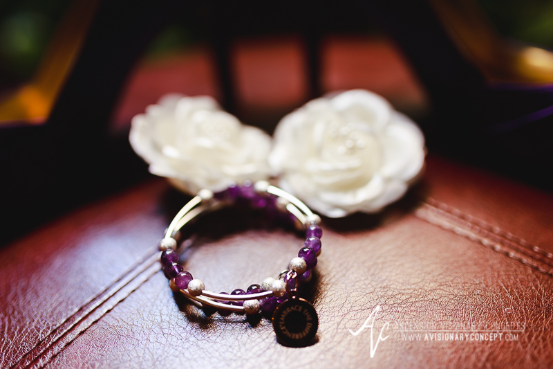 Buffalo Wedding Photography The Columns Banquets Millennium Hotel 003 - Bride Details Purple Amethyst Bracelet.jpg