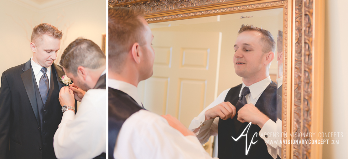 Buffalo Wedding Photography The Columns Banquets Millennium Hotel 022 - Groom Getting Rready.jpg