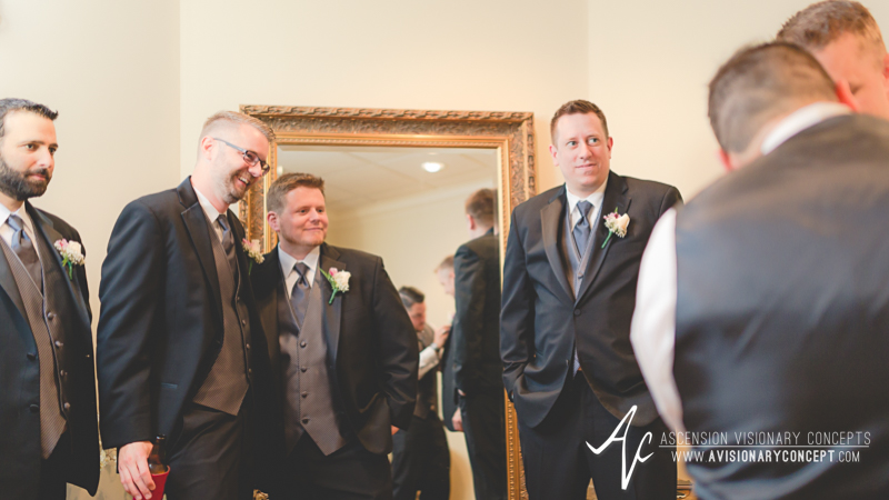 Buffalo Wedding Photography The Columns Banquets Millennium Hotel 023 - Groom Getting Rready.jpg