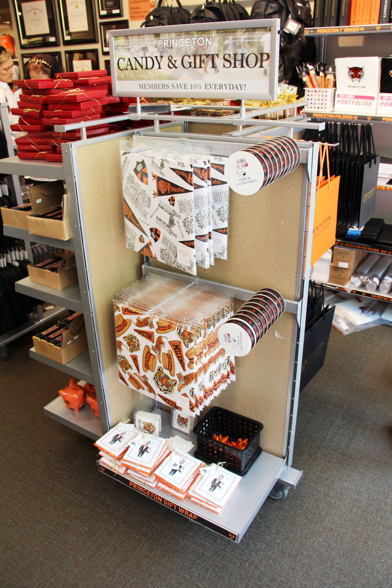 """LAURA ANN """"Tiger Spirit"""" Yes! Collection cards on the shelves at the Princeton University Store on Nassau Street ($25 for a set of 8, or $22.50 for store members) ."""