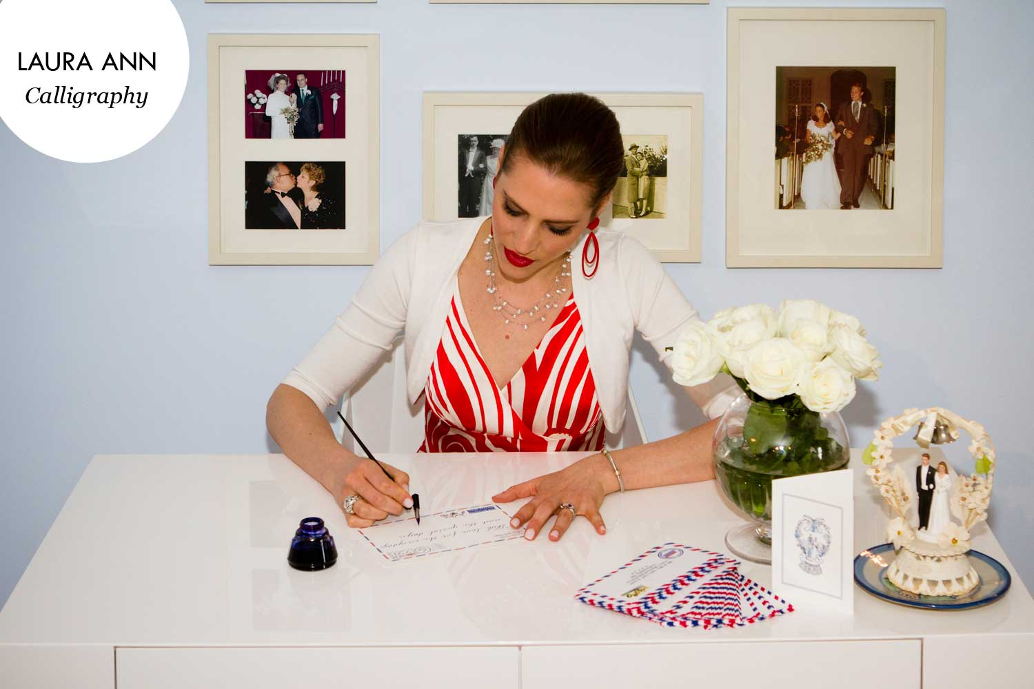 Artist Laura Elbogen brings the old world charm of hand calligraphy to modern day correspondence.