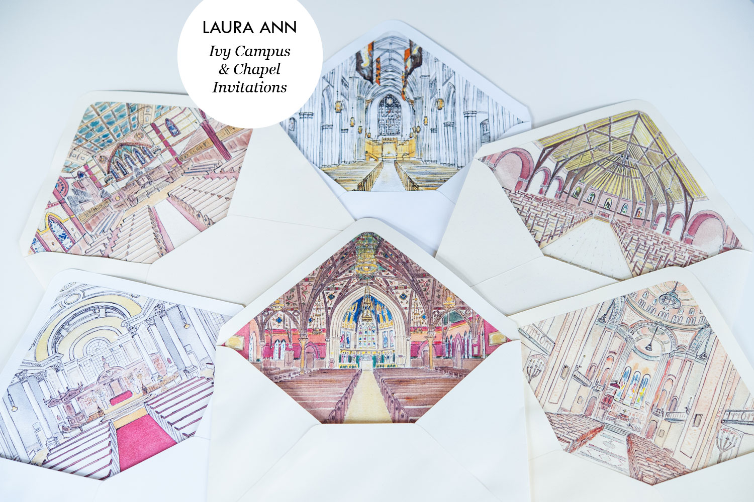 LAURA ANN Ivy Campus and Chapel Invitations
