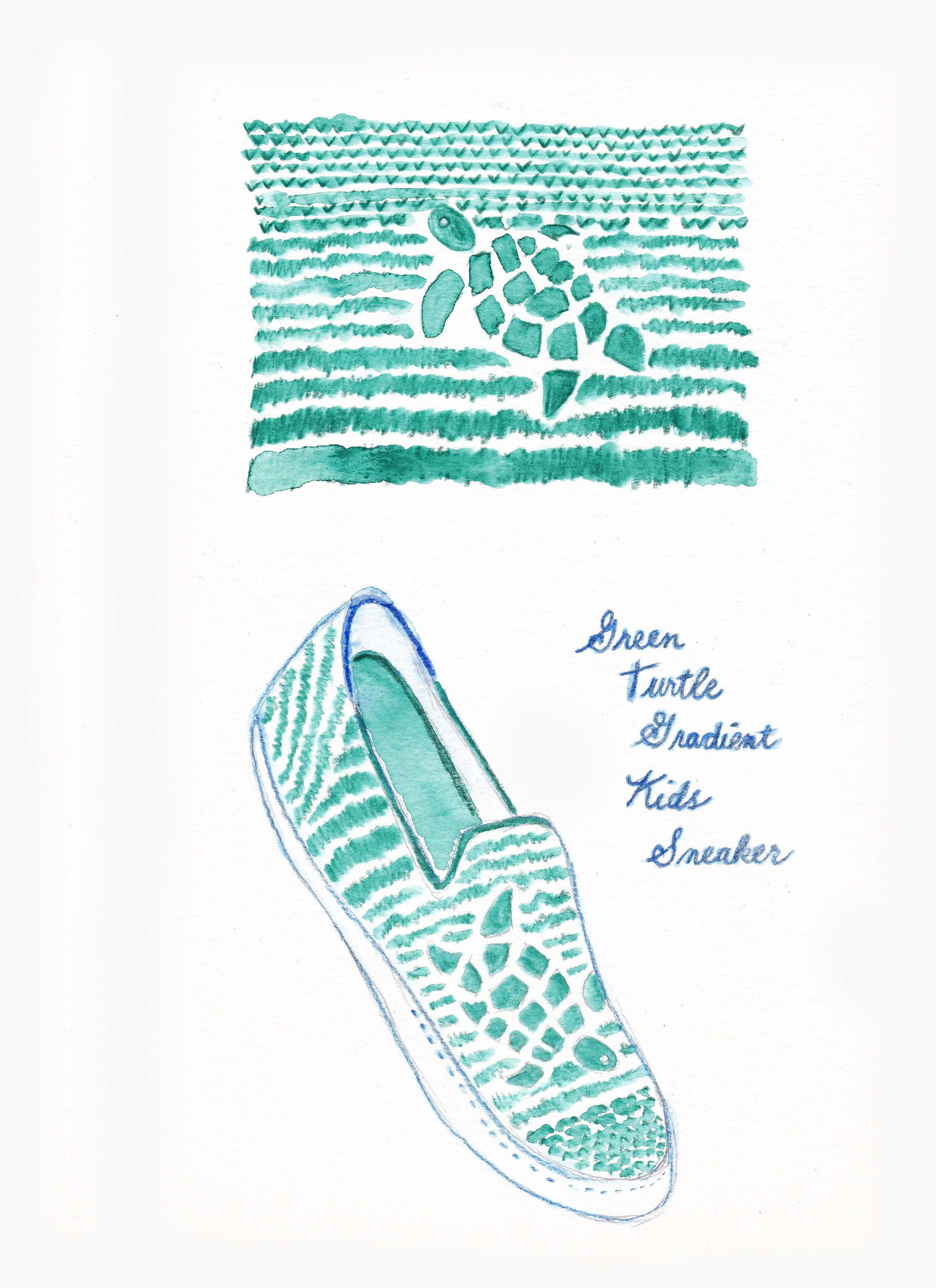 Laura Ann_Rothys_Green Turtle Gradient Sneaker.jpg