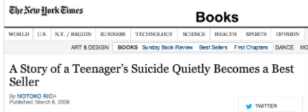 We got 13 Reasons Why to #3 on the NYT Best Sellers List with no media budget.