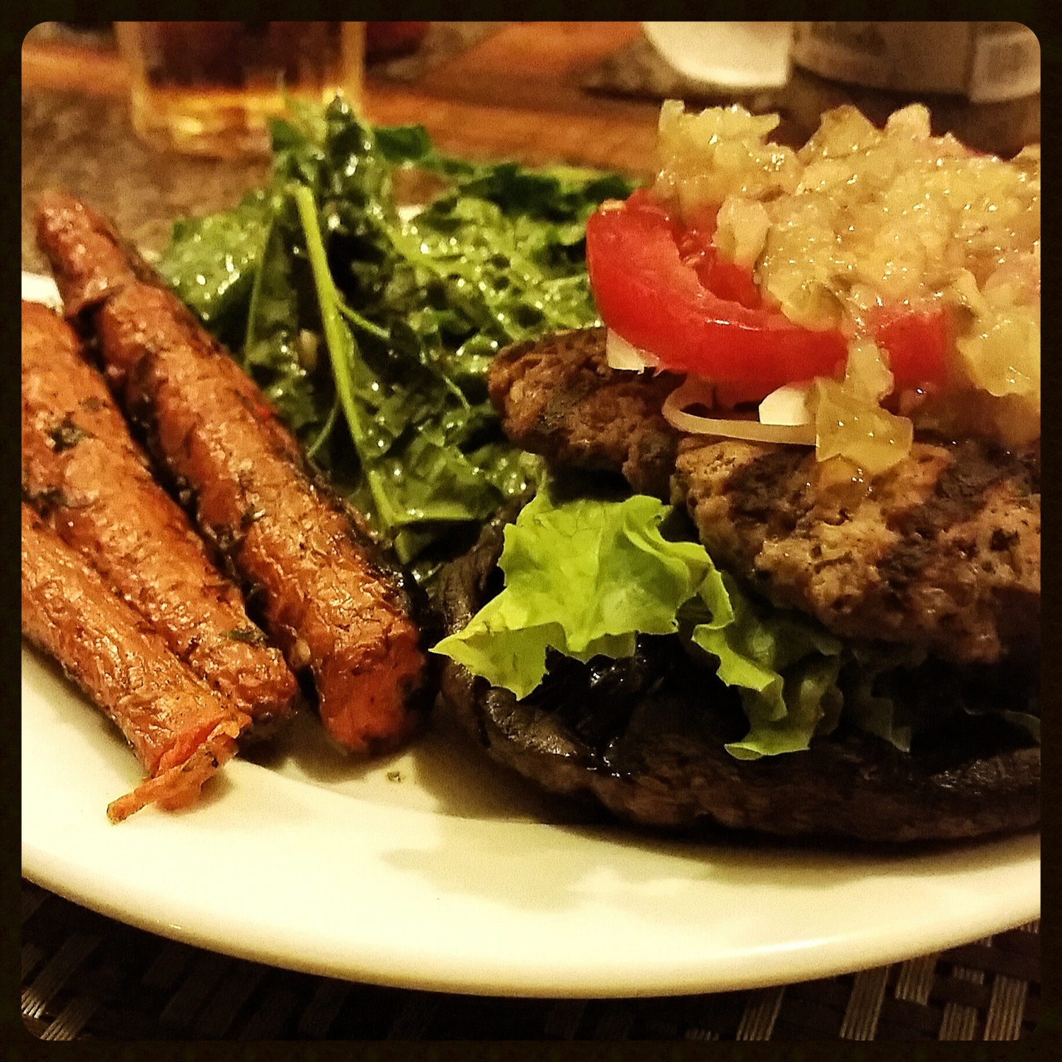 Inspired by NomNompaleo's Big-O Bacon burger from the recipe book, Nom Nom Paleo: Food For Humans. Link below.