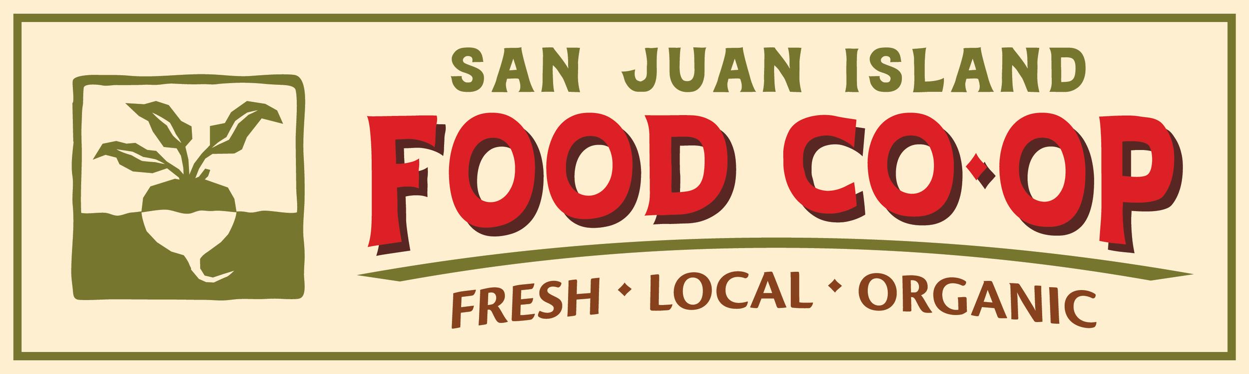 SAN JUAN ISLAND FOOD CO-OP (bumper sticker)