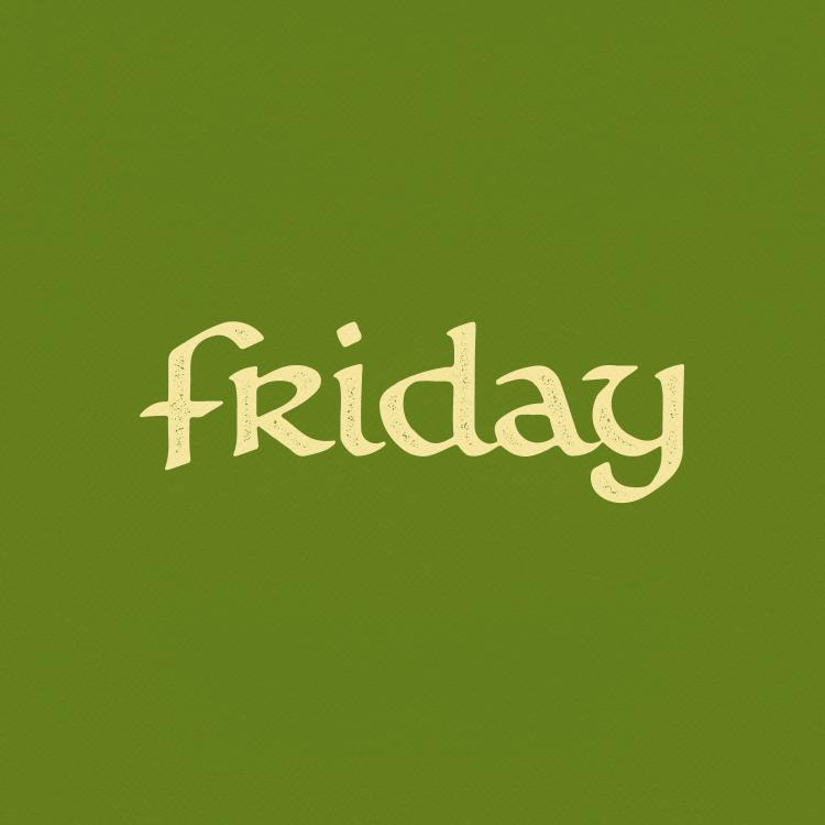 FRIDAY (boat logotype)