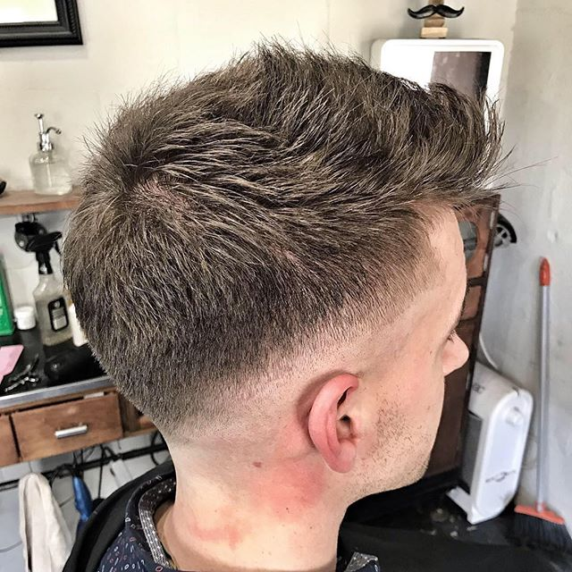 A fun bald fade and choppy, textured top for @blakeamundell #handsome #handsomizer #barber #barbershop #barbershopconnect