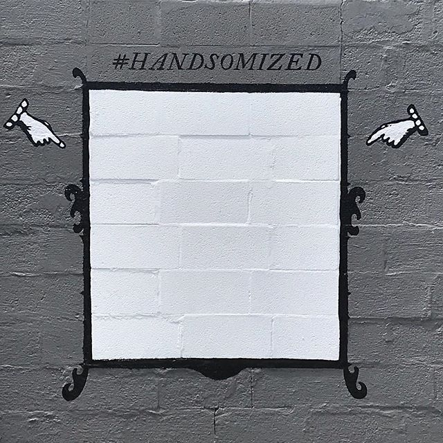 Next time you swing by the @handsomizer - make sure and capture your freshly #handsomized state at the new mural for your digital pals. #nashville #nashvillemurals #handsome #handsomizer