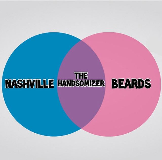 The Handsomizer™ loves Nashville. The Handsomizer™ loves  beards. . #handsome #handsomizer #barber #barbershop #nashville #venndiagram