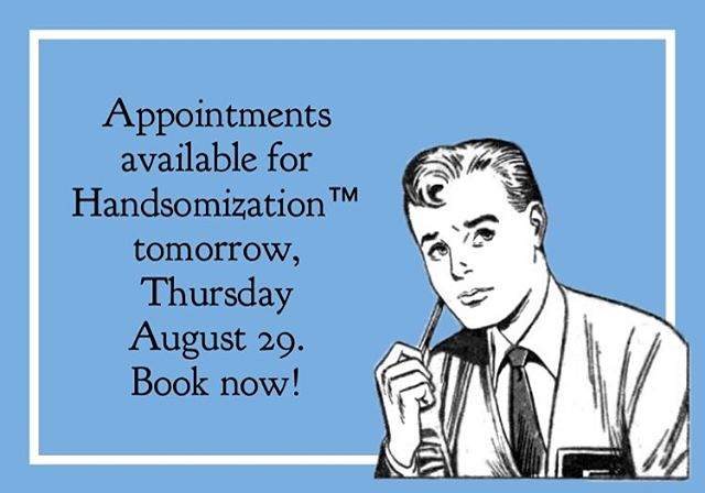 Start the weekend early and #handsome!  Appointments still available for tomorrow, Thursday, August 29!  #fridayjunior #handsomizer #barber #barbershop