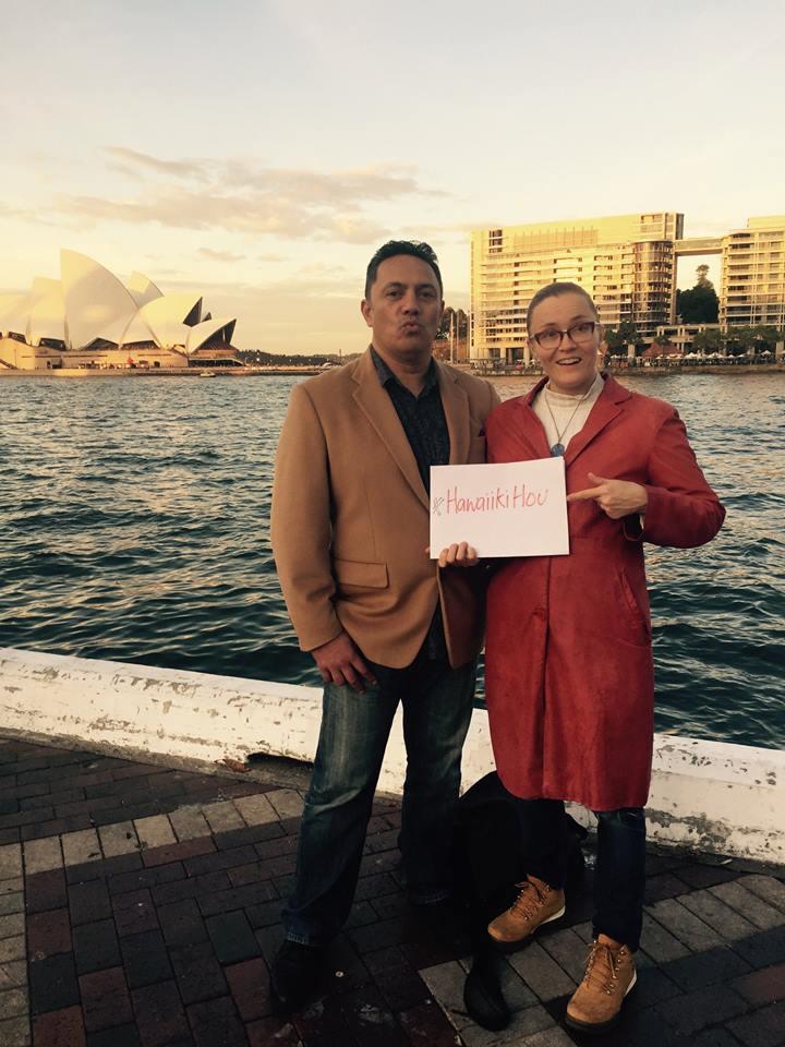 Brent Reihana and Riika Lintola of the SYDNEY MAORI FILM FESTIVAL, a founder member of Hawaiiki Hou the World Maori Film Festival Congress.