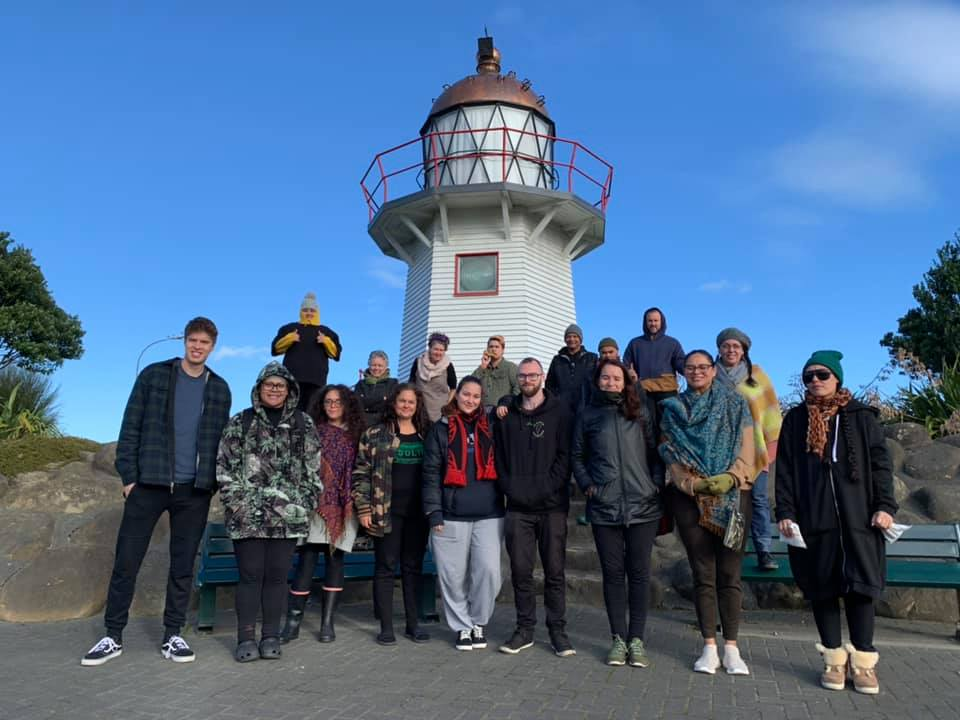Our delegation from Tamaki Makaurau outside the Wairoa lighthouse.