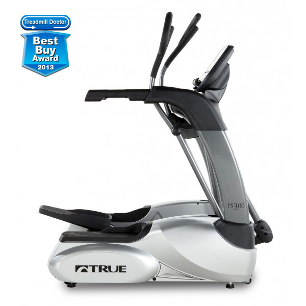 "TRUE |  PS300   - TRUE patented Core Drive System and patented Side Steps - TRUE'S NEW patented Cardio 360TM for a total-body workout - Footprint (49""L x 32.5""W) - 12 preset workouts  - Orthopedic footpads - Ergonomic handles for comfort and fatigue resistance  - Polar® Wireless Heart Rate Monitoring with a monitor included - Max user capacity 300lb - Maximum workload 300 watts   Warranty:  Lifetime (frame)  7 years (parts)  1 year (labor)"