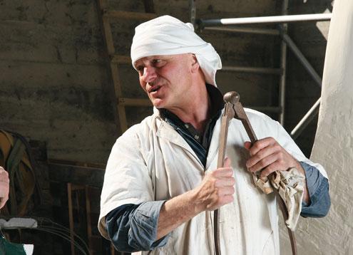 Livio in his workshop