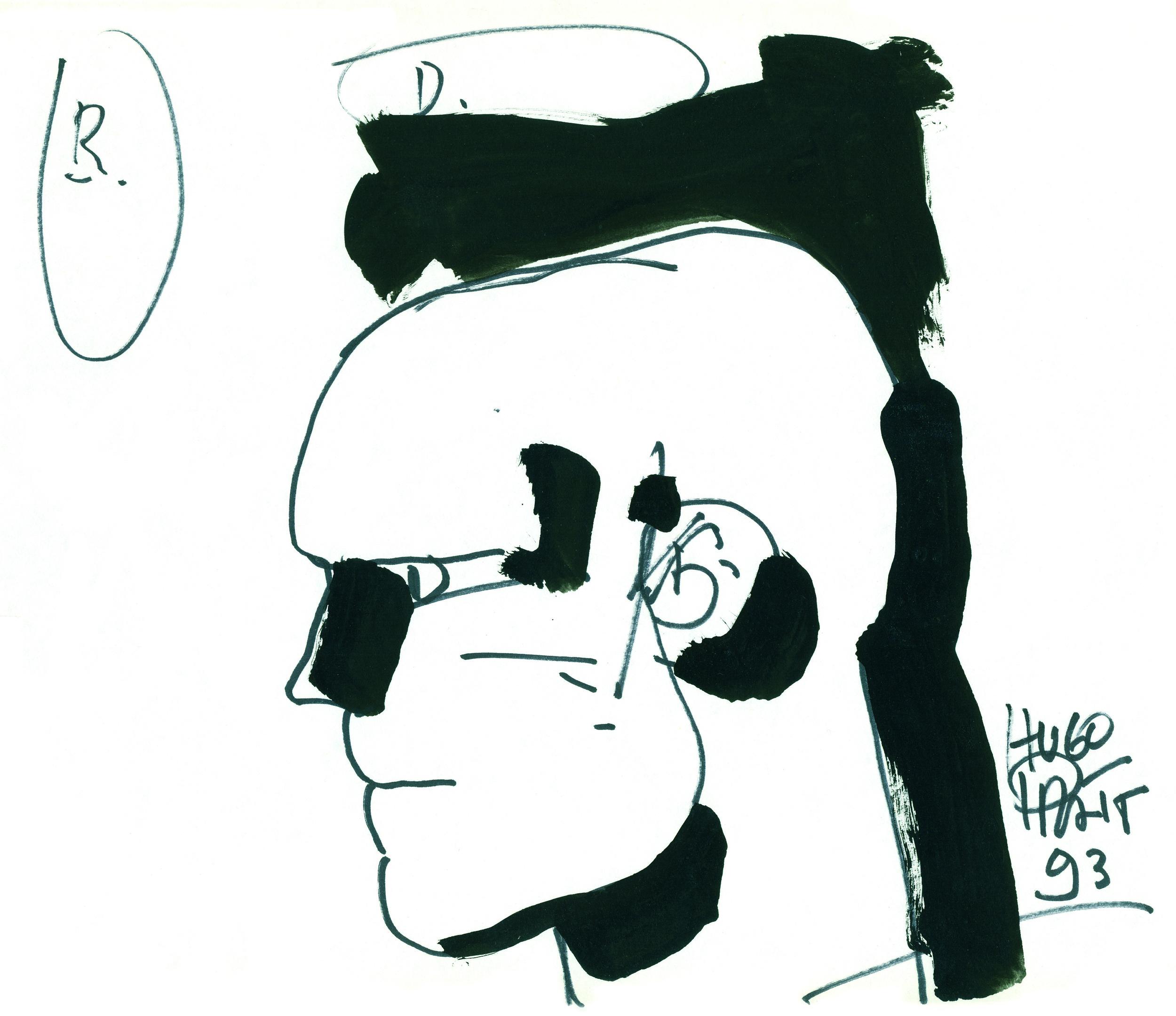 Livio, sketched by Hugo Pratt