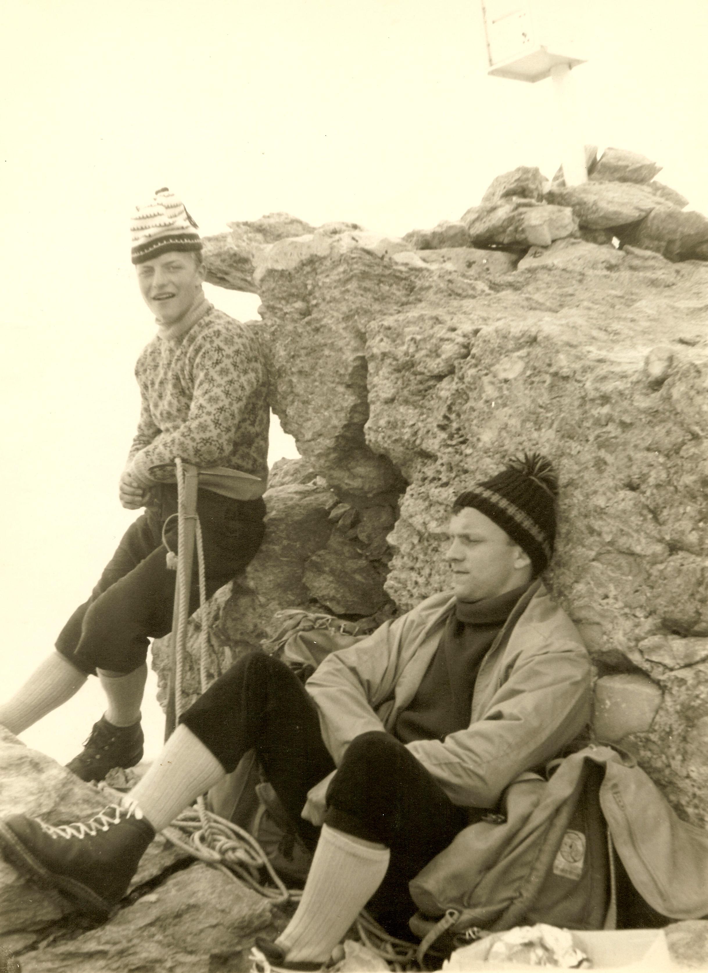 En montagne, les frangins Robert et Livio