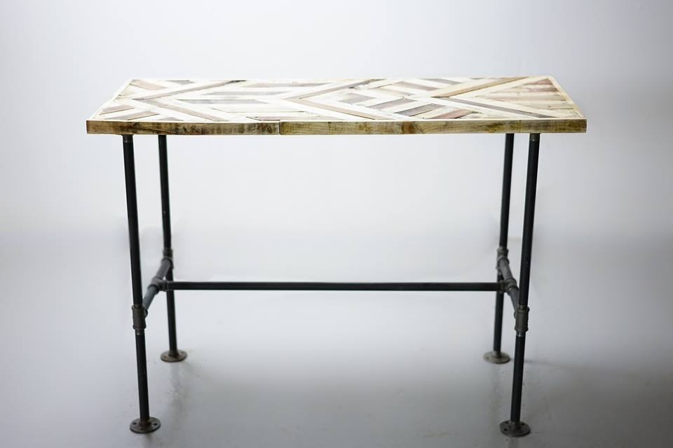 I named this table after M.C. Eschers 'relativity' for it's converging and diverging angles, much like the famous lithographic print.