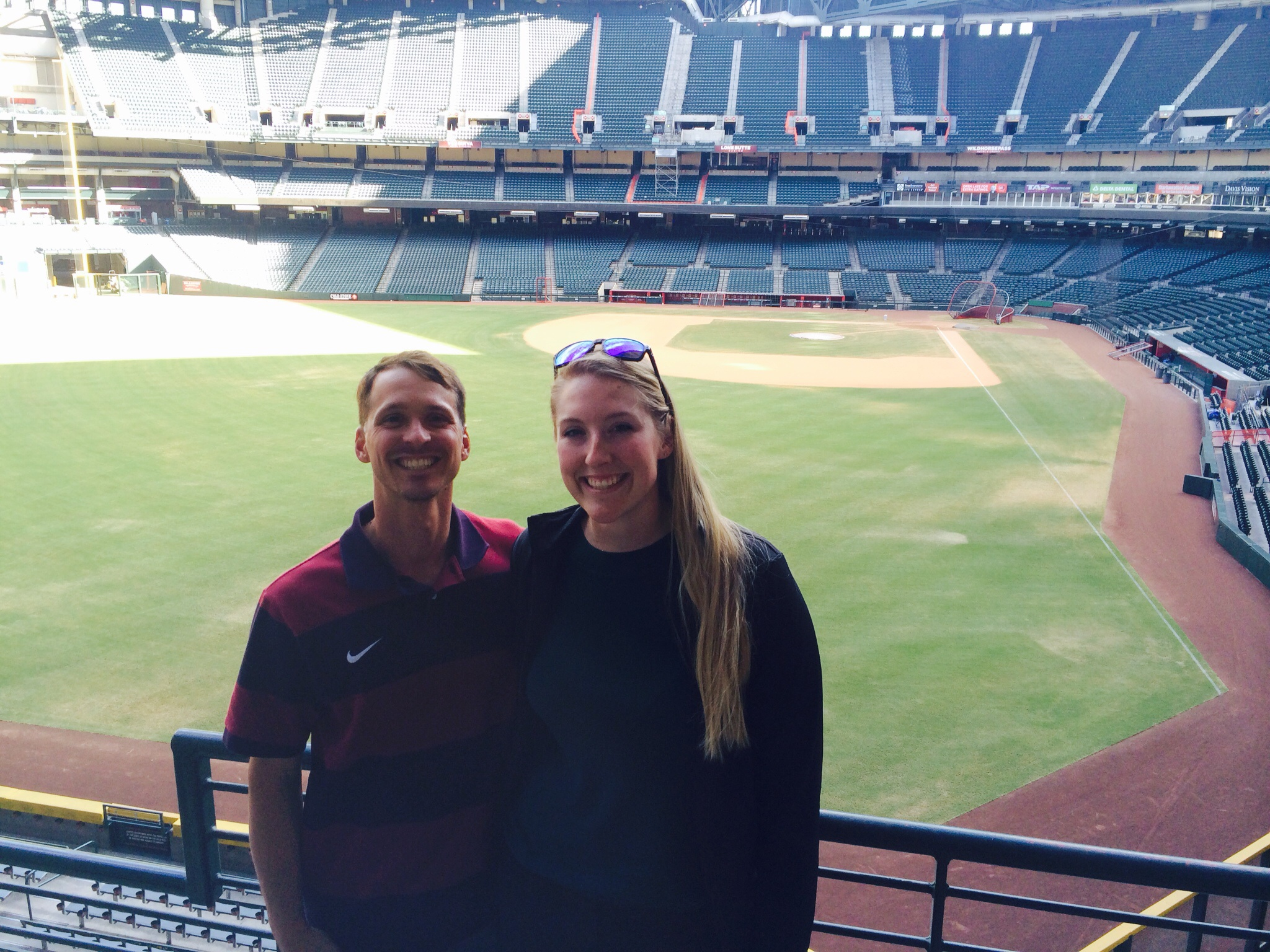 Samantha and I at Chase Field in Phoenix.