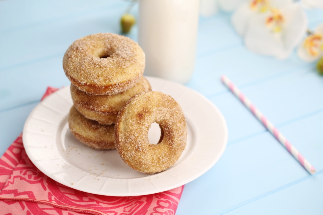 A quick and super easy baked cinnamon sugar doughnut recipe. I seriously love this recipe sooo much! Its Super easy and SOO GOOD!