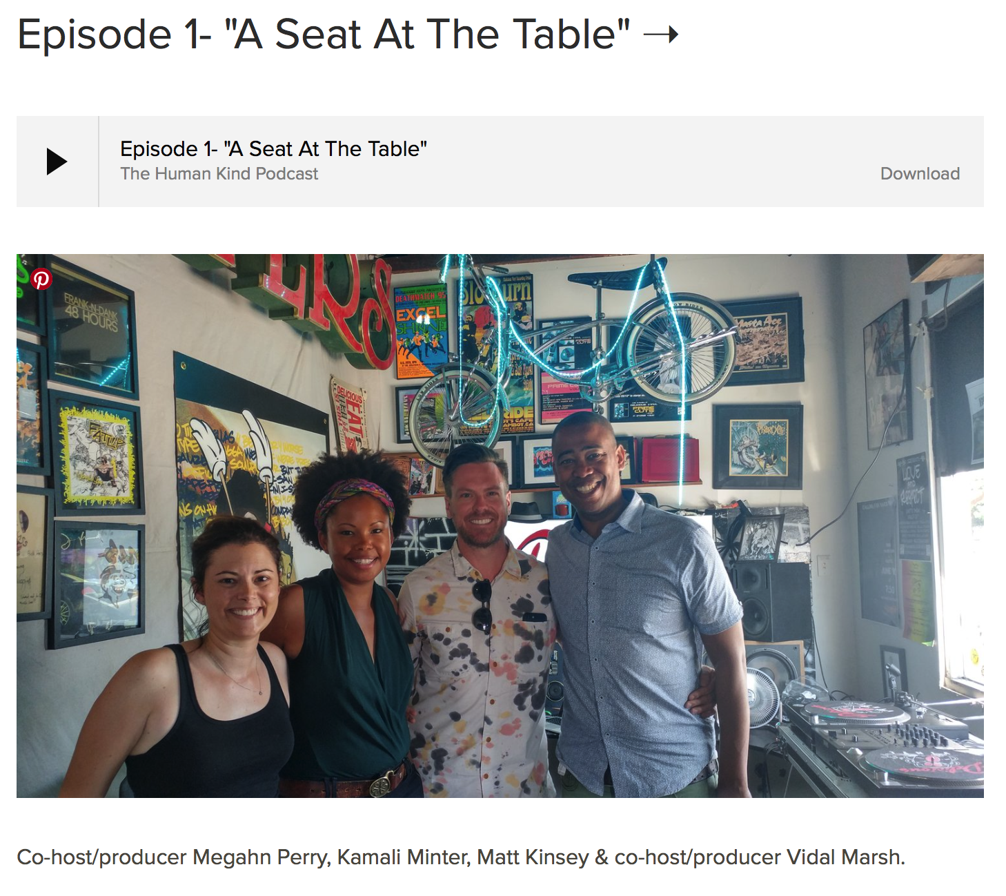 I had the honor of participating in a podcast project about Race called the Human Kind project. It was good to be a part of an honest, thoughtful, and candid conversation about race between people of different backgrounds.... Scroll down to Episode 01: A seat at the table to listen.