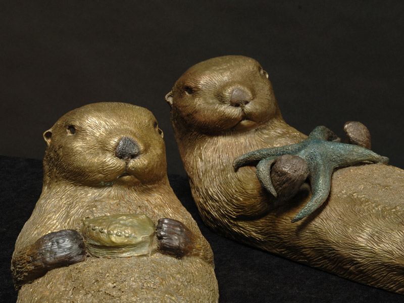 Sea Otters Sculpture