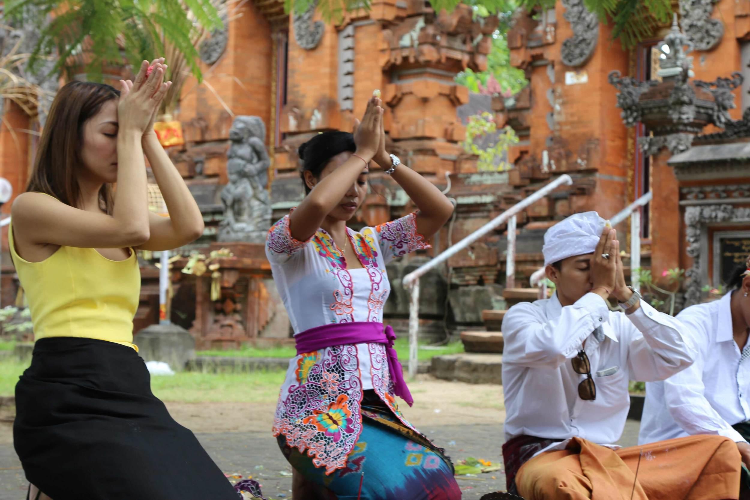 Celebrating Kuningan festival