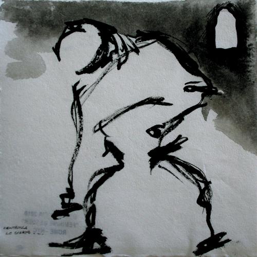 He, she, it 2010. Ink on paper, 15x15 cm