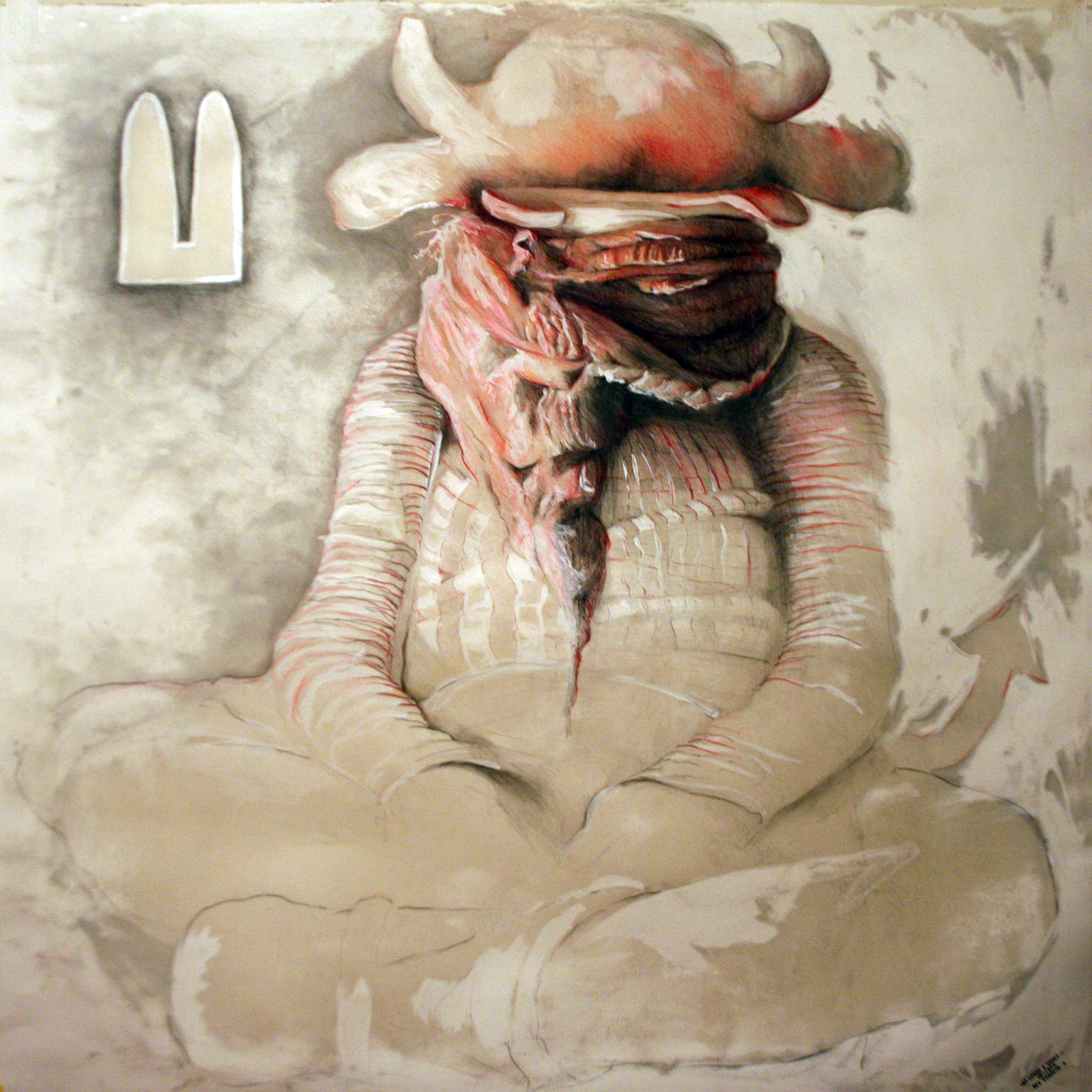 At least a snake n. 4/4 2012  pencil, pastels, chalk and wax on paper  40x40 inches