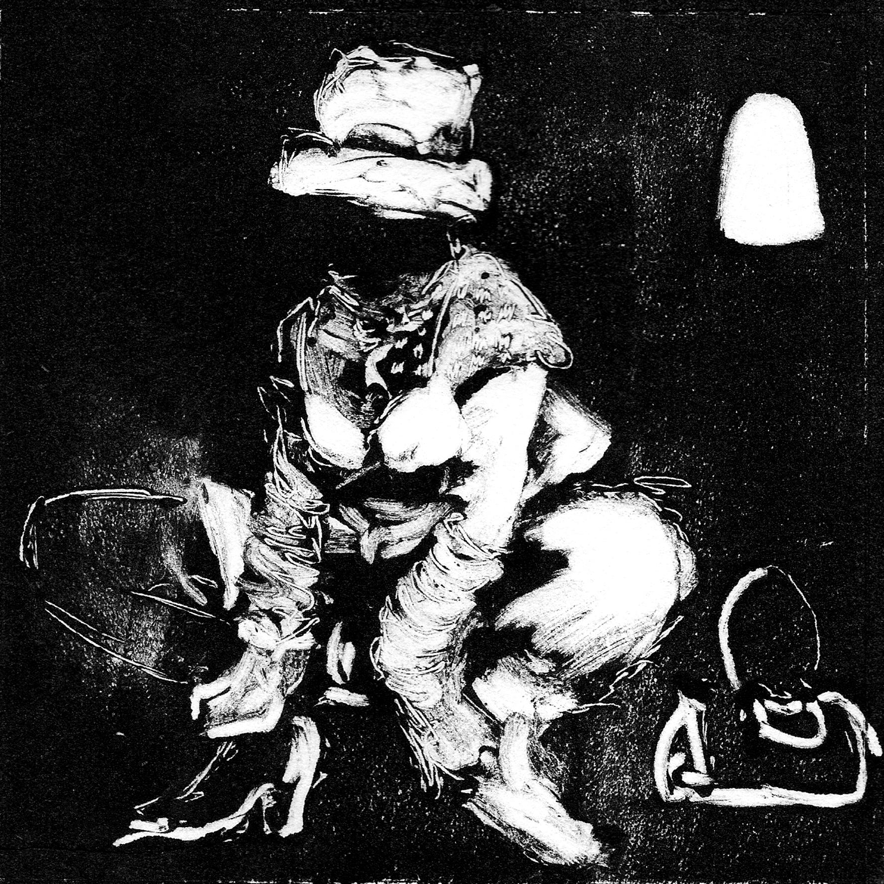 Feminine2010, monotype on japanese paper, 15x15 cm