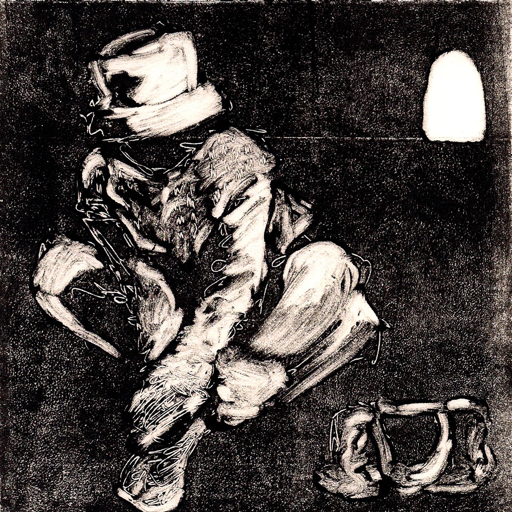 Feminine 2010, monotype on japanese paper, 15x15 cm