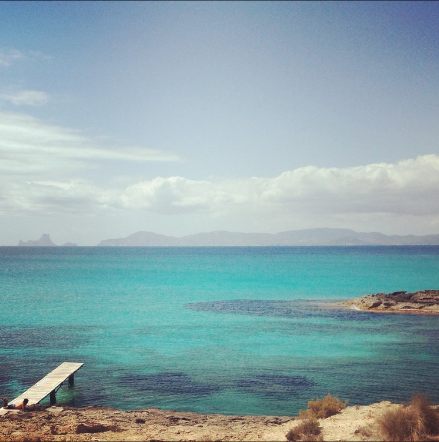 to swim / to eat formentera and eat some fish food at El Moli de Sal