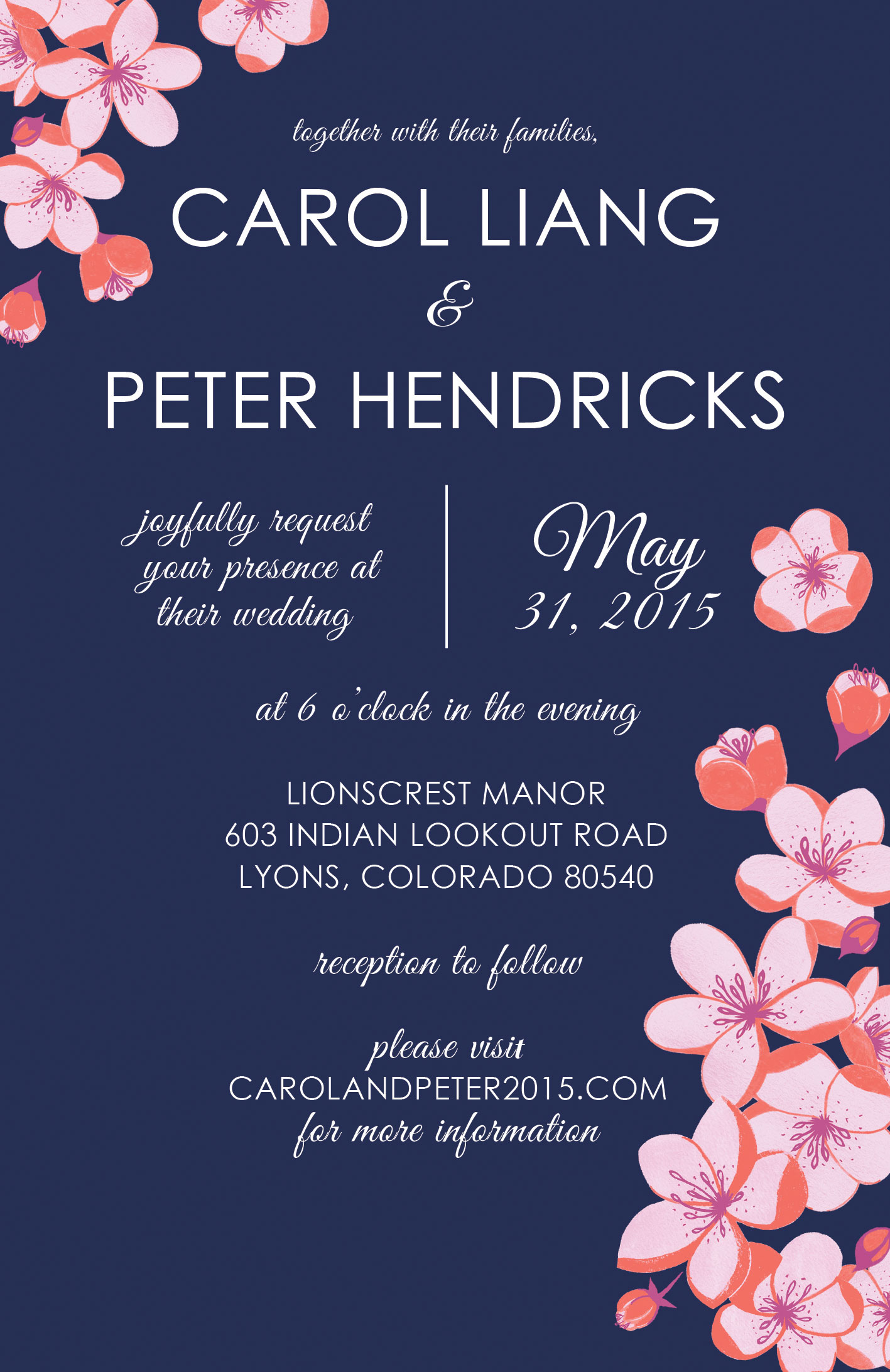 Liang + Hendricks Wedding Invitation