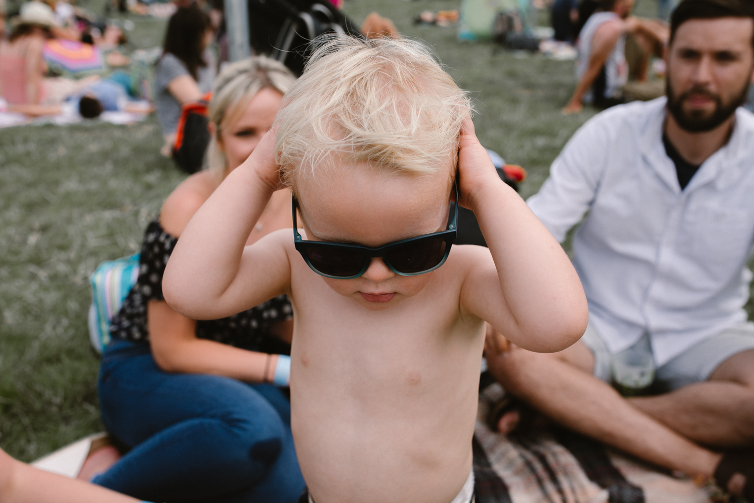 Little dude at a festival