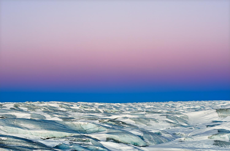 Auf dem Grönländischen Inlandeis (nahe Point 660 in der Region von Kangerlussuaq), Anfang November 2014