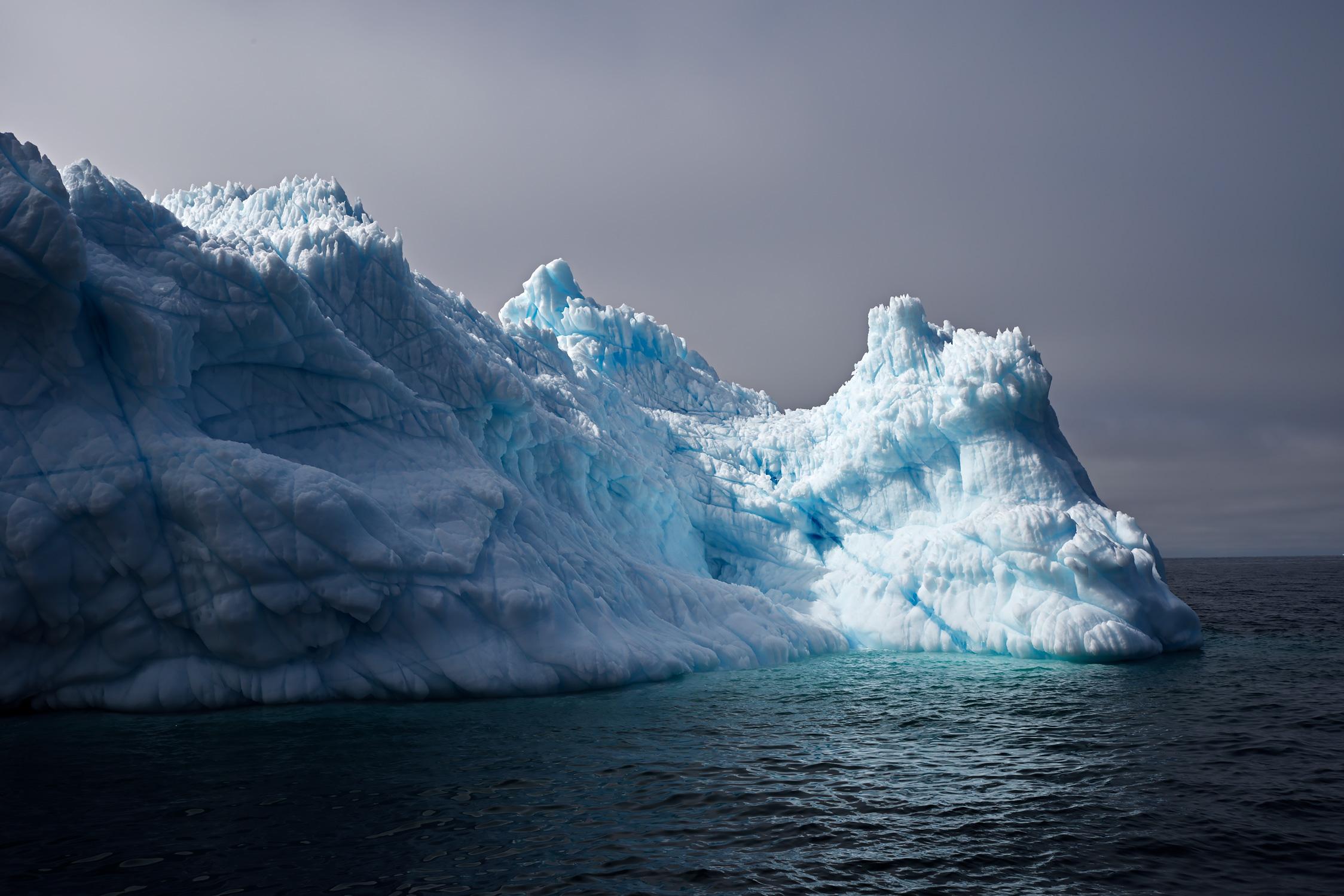 Furrowed Iceberg In The Twilight